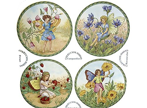 70329A Floral Garden Flower Fairies Waterslide Ceramic Decals By The Sheet (6