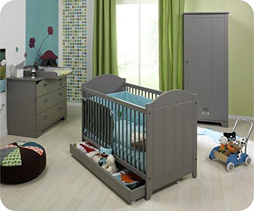 Babyzimmer komplett Charme grau