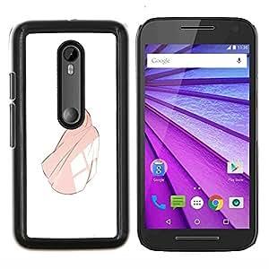 """Be-Star Único Patrón Plástico Duro Fundas Cover Cubre Hard Case Cover Para Motorola Moto G (3rd gen) / G3 ( Princesa Vestido de bola rosa de la muchacha de la mujer del cuento de hadas"""" )"""