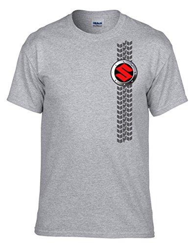 Susuki AUTO Grau Fun T-Shirt -113 -Grau