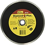 IVY Classic 38164 Diamond Plus 7-Inch Dry and Wet Tile Cutting Continuous Rim Diamond Blade with 7/8-5/8-Inch Diamond Arbor, 1/Card
