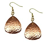 Hammered Copper Triangular Drop Earrings By John S Brana Handmade Jewelry Durable Copper Earrings
