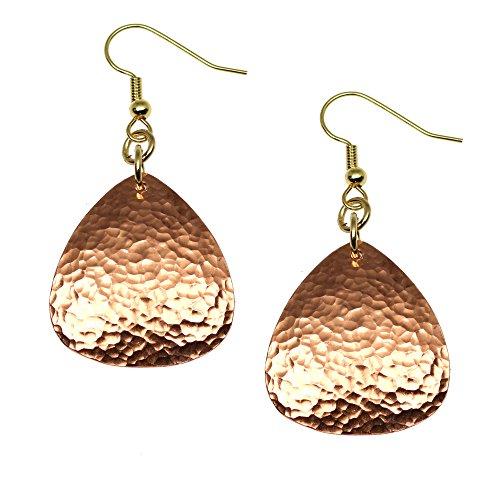 Hammered Copper Triangular Drop Earrings By John S Brana Handmade Jewelry Durable Copper Earrings (Ring Designer Copper)