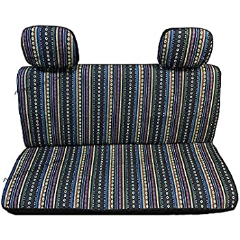 4 Pc Brand New Universal Cabo Saddle Mexican Blanket Bench Truck Seat Cover