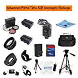 Advanced Prime Time Acessory Package For The Sony Sony Alpha NEX-3, Alpha NEX-5 Kit Includes 16Gb High Speed Memory Card, 2 Extended Life Batteries, rapid AC/Dc Charger Wide Angle Lens, 2X Telephoto Lens, Filter Kit, Flower Lens Hood, Deluxe Carrying Case + More All Lenses Will Fit The Following Sony Lenses 18-55mm and The Sony SEL16F28 16mm f/2.8, Best Gadgets