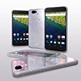 Nexus 6P Case, Cellto Thin TPU [0.33 mm] Cover [Precision Fit] Premium Soft Flex [Anti Slip] Silicone Case - Clear Glitter