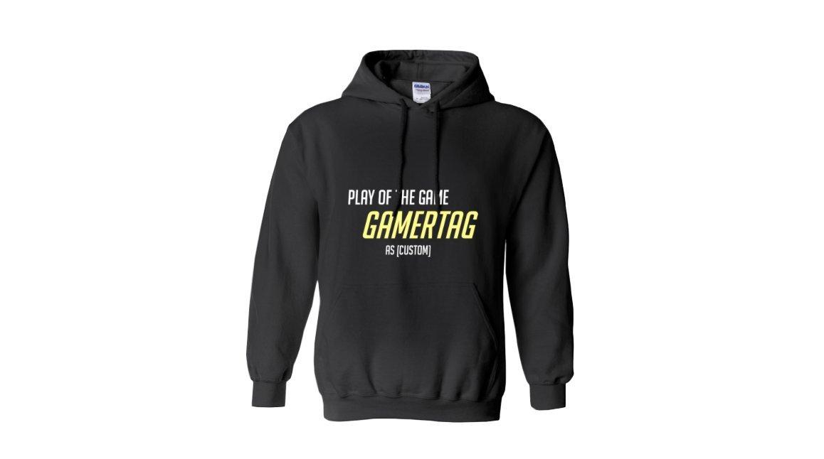 Custom Play Of The Game Hoodie - Overwatch Gift, Nerd Gift, Nerd Birthday, Gamer Gift, Hoodie, Women's, Mens, Geek