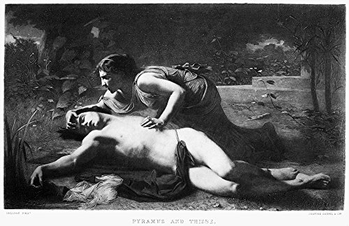 Pyramus And Thisbe Nengraving French 19Th Century After The Painting By Francois Alfred Delobbe 1875 Poster Print by (24 x 36)