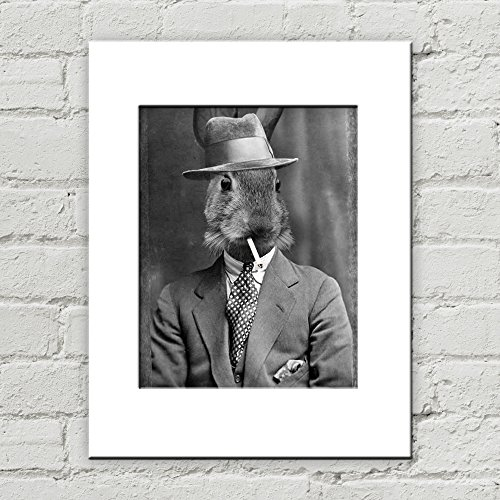 Inanimate Object Costumes (5 x 7 Bunny Matted Art Print, Anthropomorphic)
