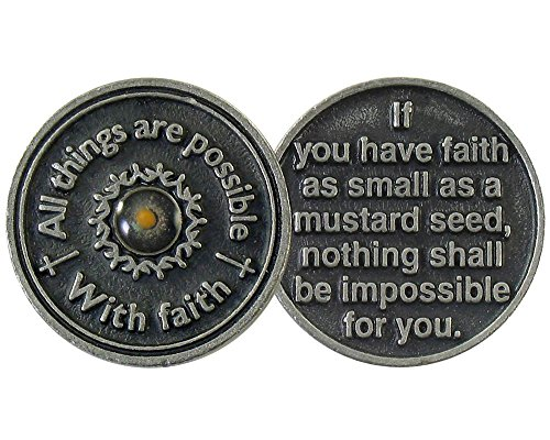 Genuine Mustard Seed - Faith Mustard Seed Coins and Faith Cards (Set of 3 Coins)
