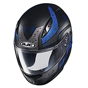 HJC Helmets Unisex-Adult Flip-Up-Helmet-Style CL-MAXBT 2 Friction Helmet (MC-2SF Black/Blue, Medium)