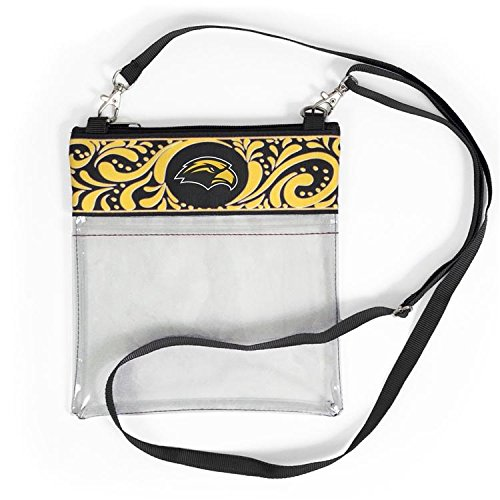 Desden Clear Game Day Crossbody for Accessories & Cosmetics - Southern Miss -