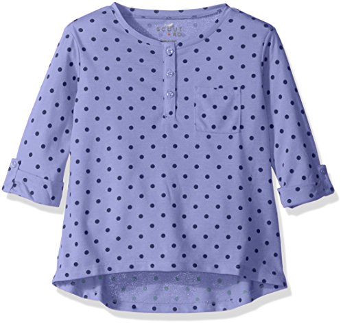 Scout + Ro Girls Three-Quarter Sleeve Dot Tunic with Pocket