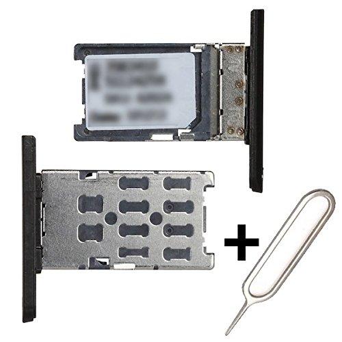 BisLinks Black Sim Card Holder Tray for Nokia Lumia 1520 + Free Ejector Pin (Camera Nokia Holder)
