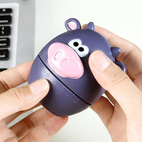 LtrottedJ Polar Zoo Pig Kitchen Timer Cute Cooking Gadget Tool Fun Collectible for Pet - Dial Sprinkler