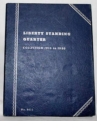 1916 Hard Cover Liberty Standing Quarter Collection 1916 to 1930 Whitman Album Book by Whitman Hobby Division...