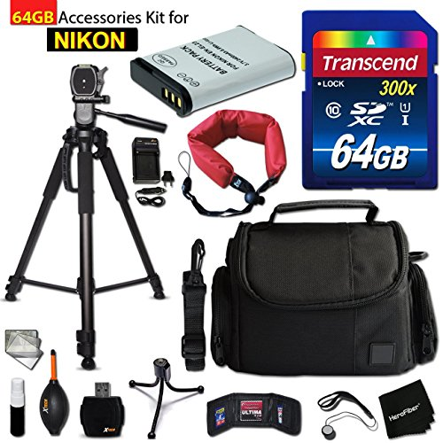 64GB Accessory Kit for Nikon CoolPix B700, P900, P610, P600