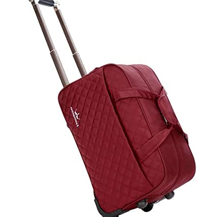 21ce8b00eea1 Amazon.com: Minmin-lgx Quilted Rolling Underseat Carry-On Luggage ...