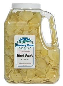 Harmony House Foods, Dried Potatoes, sliced, 32 oz. Gallon Size Jug