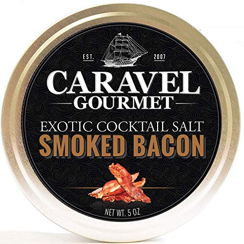 Smoked Bacon Exotic Cocktail Salt - All-Natural Glass Rimmer & Finishing Sea Salt, Slowly Smoked & Infused with Bacon - No MSG, Non-GMO, Gluten-Free - 5 oz. Stackable Tin (Best Bacon Bloody Mary Recipe)