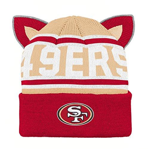 NFL San Francisco 49ers Team Ears Fleece Knit Hat Crimson, Infant One Size