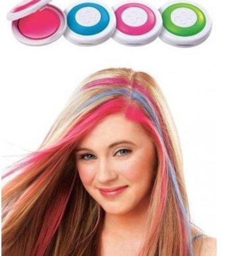 IMISS Hot Huez Hair Chalk As Seen On TV Set of 4 Hot Pink Blue Fuchsia Neon Green