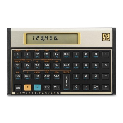 Wholesale CASE of 3 - HP 12C Financial Calculator-Financial Calculator, 120 Functions, 5''x3-1/10''x1/2'' by HP (Image #1)