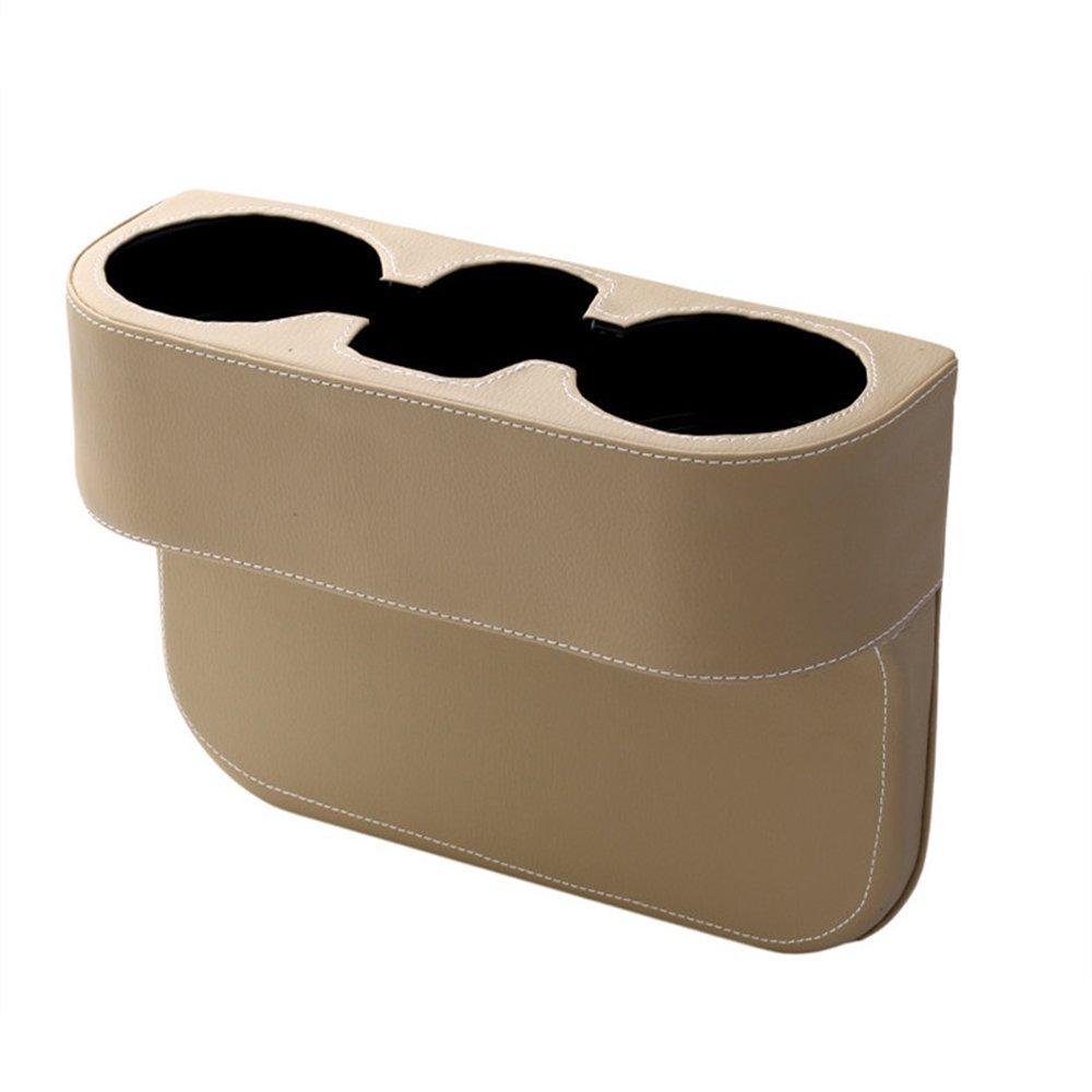 MFBEE Auto Multifunktionale Leder Lagerung Cup Halter Stuhl N/ähen Aufbewahrungsbox Auto Getr/änkehalter Gro/ße Kapazit/ät Aufbewahrungsbox