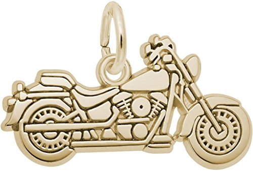 14k Motorcycle Charm (Rembrandt Flat Motorcycle Charm - Metal - 14K Yellow Gold)