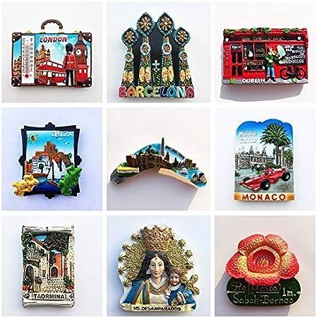 siqiwl imanes de Nevera 1 Piezas De Imán De Turismo Mundial Souvenir Perú Perú India España Las Vegas Londres Londres Imanes De Nevera De Resina Estilo Aleatorio: Amazon.es: Hogar