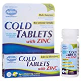 Hyland's Cold Tablets with Zinc, Natural Non-Drowsy Cold Relief, 50 Count