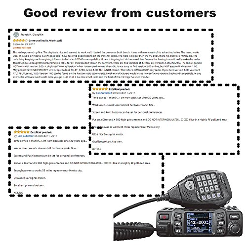 AnyTone AT-778UV Dual Band Transceiver Mobile Radio VHF/UHF Two Way and Amateur Radio by AnyTone (Image #3)