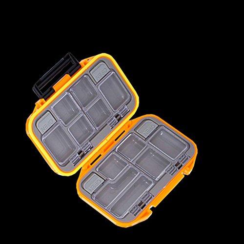 Niome Fishing Tackle Box Small Portable Waterproof Case Fish Hook Lure Jig Storage Holder Fishing Gear Accessories Orange