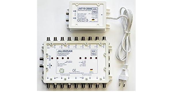 Jultec JAL0925AN amplificador con fuente de alimentación de lanzamiento cascada Start amplificador: Amazon.es: Electrónica