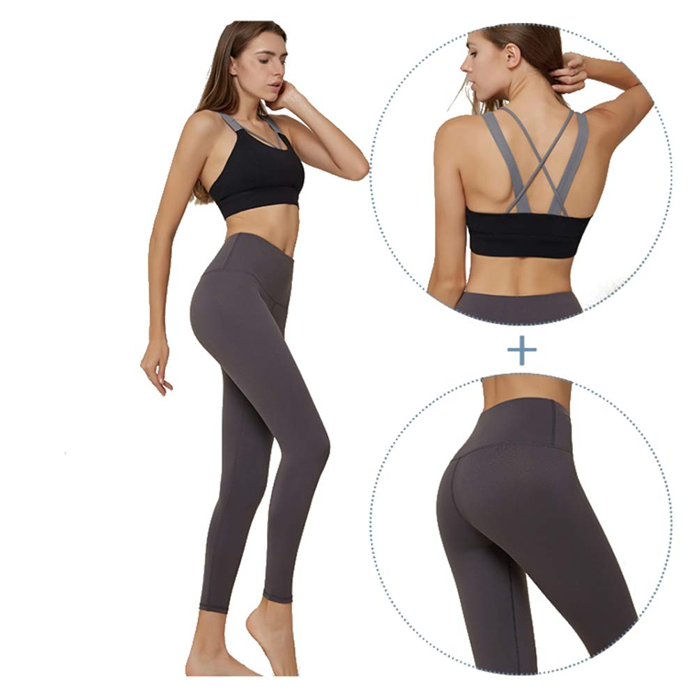 MX kingdom Yoga Wear Set, Sport Fitness Yoga Damen Sportswear Wear/Weste und Top & Leggings Stretch-Fit Yoga Gym Set Trainingsweste Damen Trainingsbekleidung Ärmellose Weste Laufhose Yoga Anzug