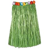 Club Pack of 12 Tropical Green Adult Sized Artificial Grass Hula Skirt 36''