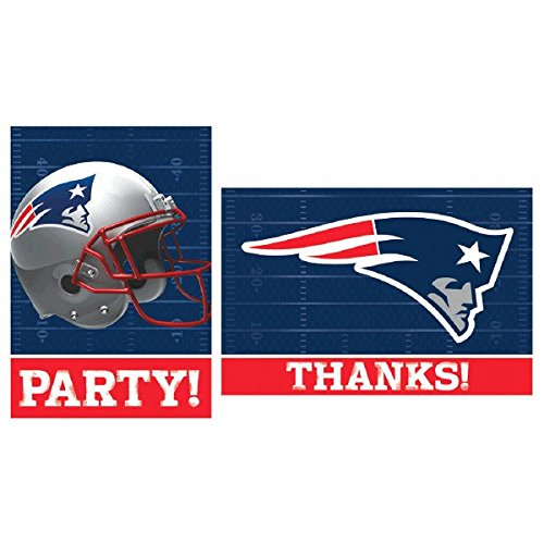 Amscan New England Patriots NFL Football Party Invitations &