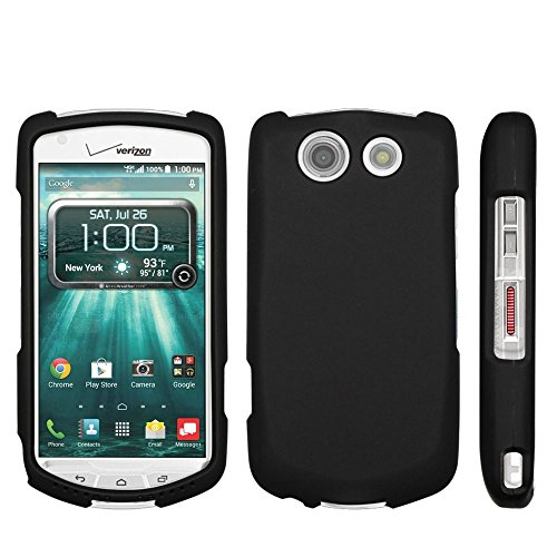 (for Kyocera Brigadier E6782 (Verizon,Sprint,International) Beyond Cell for Slim Protex Design 2 Piece Snap On Hard Rubberized Feel Non-Slip Matte Protective Phone Case - Black - Retail Packaging)
