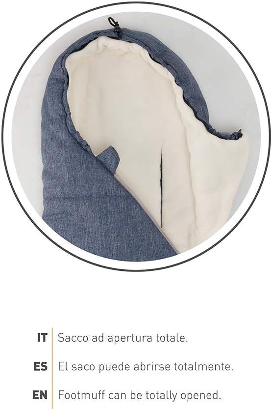 Nuvita 9236 Ovetto Pop Para Asientos Coche Grupo 0-80cm x 40cm T/érmico Impermeable a Prueba de Viento Hasta 5/° Cuello de Piel Sint/ética Saco Carrito Bebe Universal 0-6 Meses