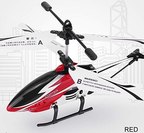 Remote Control Helicopter Glory with 3.5GHZ Channel Mini Alloy RC Helicopter Toy and Gyro- Red for ()