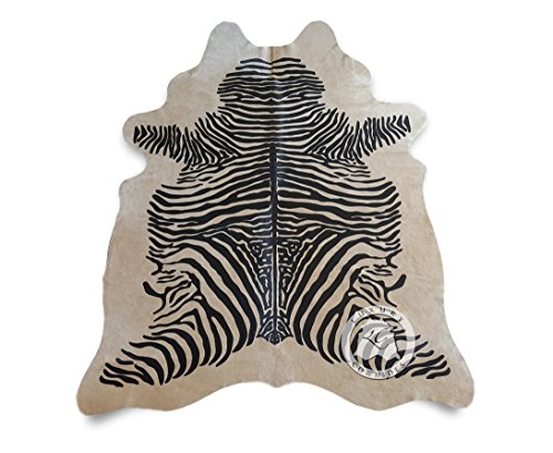 Sunshine Cowhides Zebra Cowhide Rug Animal Print Black for sale  Delivered anywhere in USA