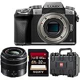 Panasonic LUMIX DMC-G7KS DSLM Mirrorless 4K Camera, 14-42 mm Lens Kit Bundle