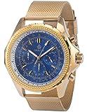 ORKINA Chronograph Golden Stainless Steel Band Mens Quartz Sport Wrist Watch ORK114