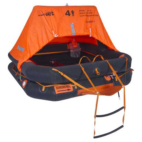 Sea Safe DXPL6CR, 6 Person Pro-Light Offshore Raft In Container, 1 Pack