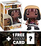 Walking Dead Michonne: Funko POP! x Vinyl Figure + 1 FREE Official Trading Card Bundle [30852]
