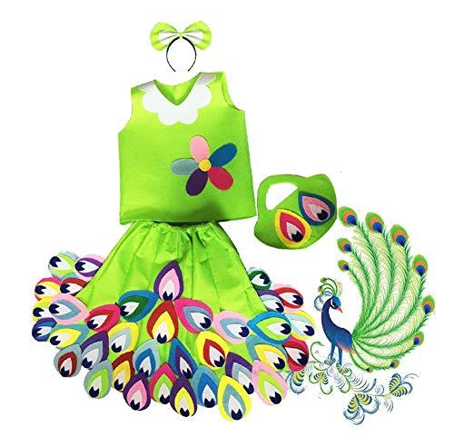 DRAGON SONIC Children Environmental Performance DIY Handmade Material Clothing(Peacock) -