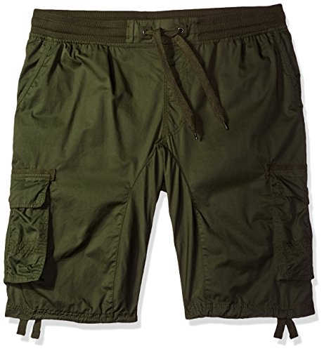 Southpole Big and Tall Men's Jogger Shorts with Cargo Pockets in Solid and Camo Colors, Olive(New), 3XB