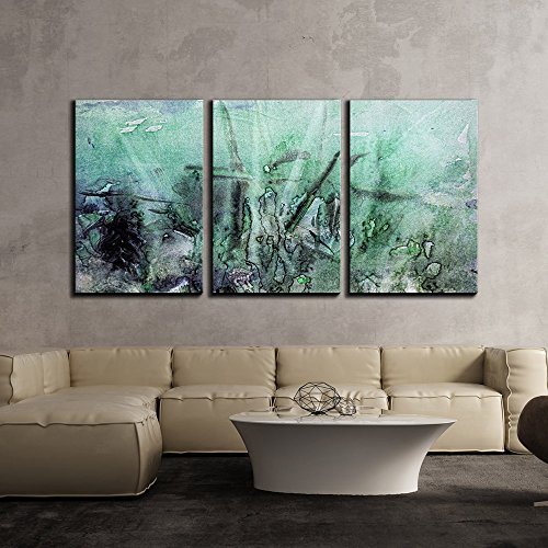 Grunge Art (wall26 - 3 Piece Canvas Wall Art - Abstract Grunge Artwork - Modern Home Decor Stretched and Framed Ready to Hang - 16