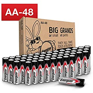 Energizer AA Batteries (48 Count), Double A Max Alkaline Battery (B079GXSFPB) | Amazon price tracker / tracking, Amazon price history charts, Amazon price watches, Amazon price drop alerts