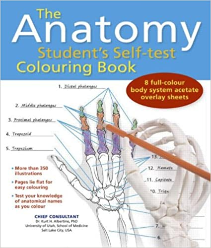 Amazon Com The Anatomy Student S Self Test Coloring Book